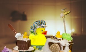 Edible Rubber Duckies Sitting in a Bathtub? This Is Dessert on a Whole Other Level