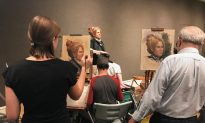 Great Camaraderie at the Salmagundi Club's Portrait Competition