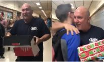 Highschoolers Gift Their Custodian New Shoes for Christmas
