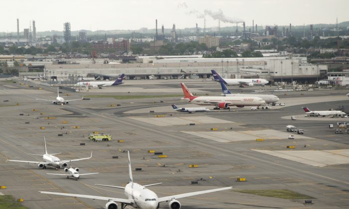 Airplanes at Newark Liberty International Airport in Newark N.J