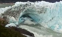 Glacier Ice Bridge Breaks Off in Argentina's Los Glaciares National Park