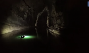 This is one of the world's largest river caves. What drone discovers when it flies in—I'm in awe