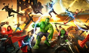 It looks like a superhero movie poster, but take a closer look at who's in it