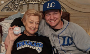 Growing up his grandma never missed his baseball games, now playing in college—devastating reality