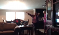 Woman gets so excited when military family member comes home—she has no idea what to do with herself