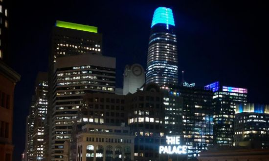 San Francisco Sight: Salesforce Tower Lights Up the Night