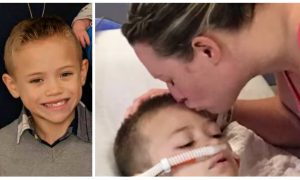 Police officer responds to mom's desperate plea to find kidney for young son