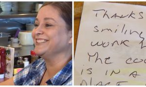 Waitress who always greets everyone with big smile ends up getting the tip of a lifetime