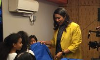 London Breed at Mayor's Annual Backpack Giveaway